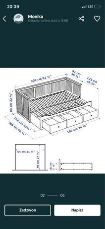 Lozko rozkladane hemnes 200/80 IKEA