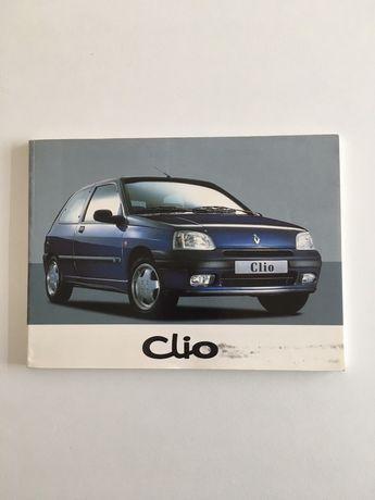 Bolsa de documentação com Manual do proprietário Renault Clio 1 Fase 2