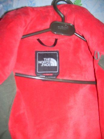 Куртка NORTH FACE р. S/P 42-44 хаки на флисе с капюшоном