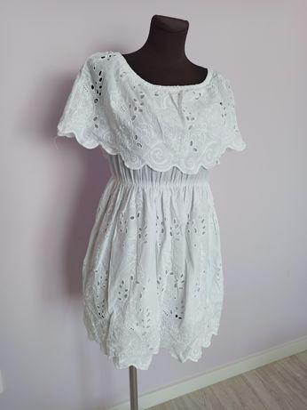 Sukienka biała Milena Płatek S
