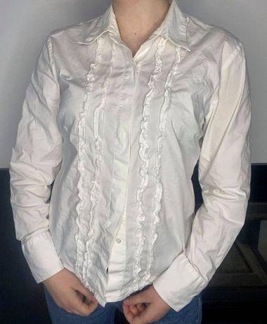 biała koszula vintage S/M kołnierzyk vintage unikatowa