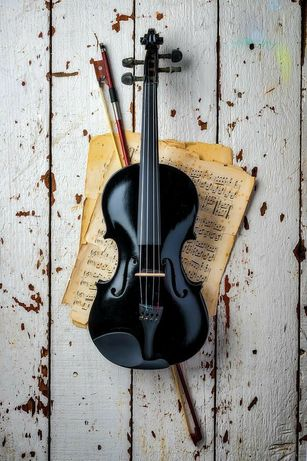 Скрипка акустична , чорна , ексклюзив!