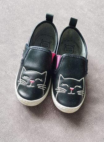 Czarne buciki z kotkami