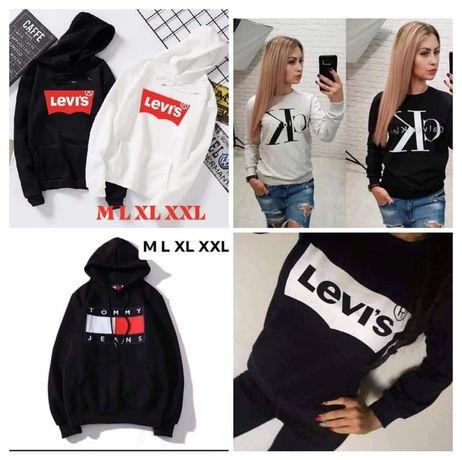 Bluzy damskie z logo Levis CK Tommy i inne kolory S-XL!!!