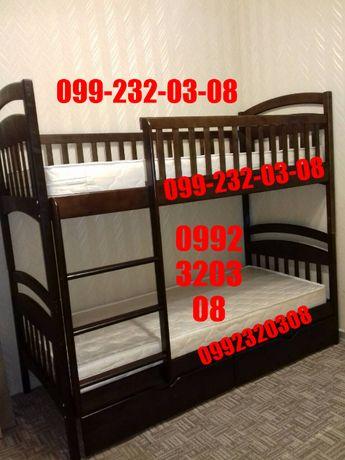 Двухъярусная кровать ^Карина СП^ с ольхи. Комплект по акции.