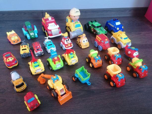 Auta zestaw autek zabawek stan idealny traktor betoniarka straż bob bu