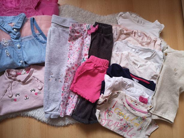 Zestaw paka wiosna lato 74-80-86 ubranka dla dziewczynki sukienki body