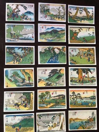 Coleção 52 selos japoneses em crepe
