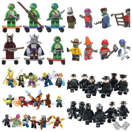Человечки, фигурки, пластина, спецназ,пони, звёздные войны, зомби лего