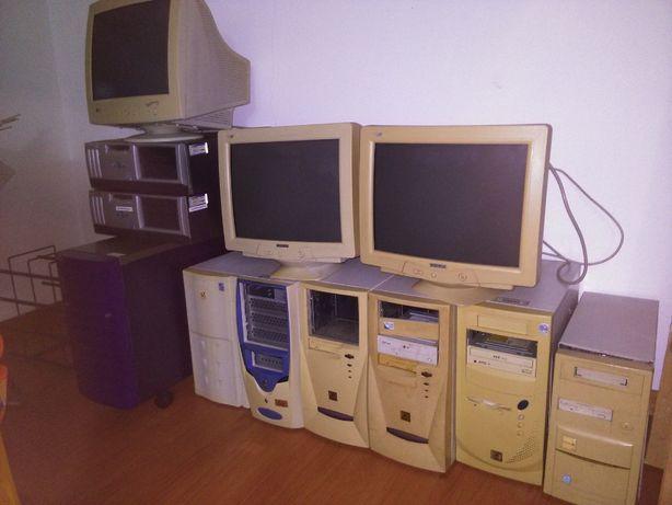 Lote de Computadores e ecrãs