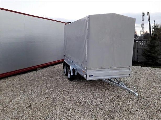 Przyczepa samochodowa FRACHT 300x150 dwuosiowa spaw profile zamknięte
