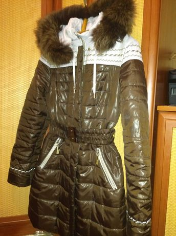 Зимнее пальто р.40-42 на девочку 160-167 см