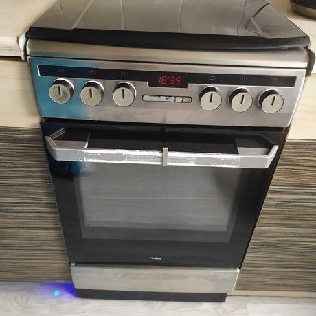 Amica kuchenka gazowa /elektryczna 50cm srebrna