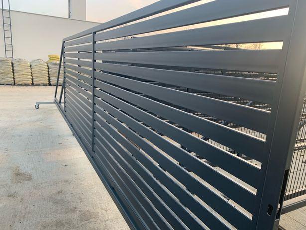 Ogrodzenie panelowe z montażem, panel Fi4, 153cm, podmurówka