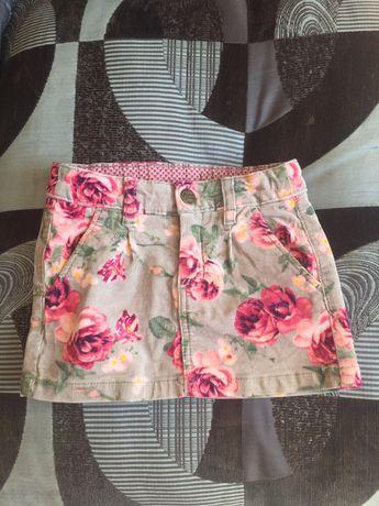Вельветовая мини юбка h&m