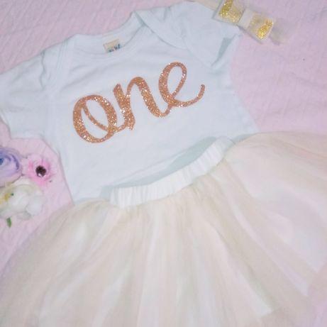 Платье костюм комплект на 1 годик