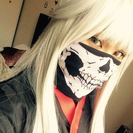 Баф с черепом маска для лица подшлемник скелет челюсть балаклава