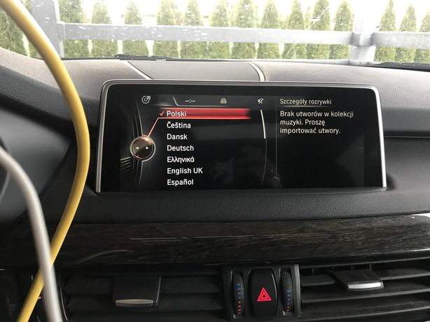 Polskie menu Lektor PL BMW CIC NBT F07 F10 F25 F30 E70 E71 mapy 2021
