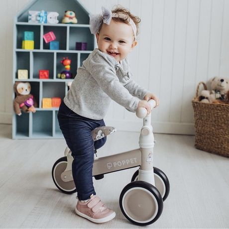 !БЕСПЛАТНАЯ ДОСТАВКА! Детский 3-колесный беговел, рама металл, POPPET