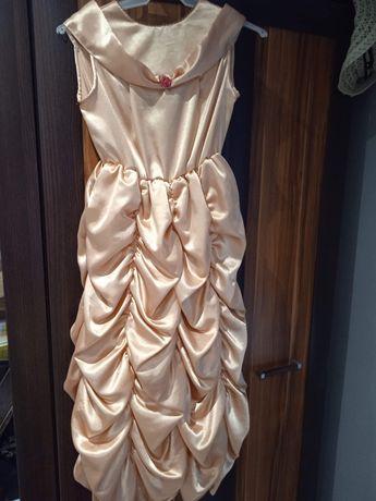 Sprzedam suknię na bal przebierańców róż 128-140
