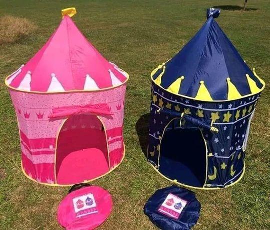 Детская игровая палатка Шатер - Замок Розовый Синий