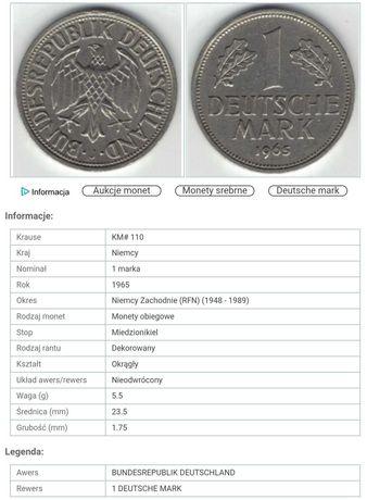 1 marka z 1965 Deutsche Mark