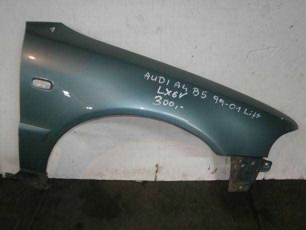audi a4 b5 lift 99-01 błotnik prawy zielony LX6V ładny