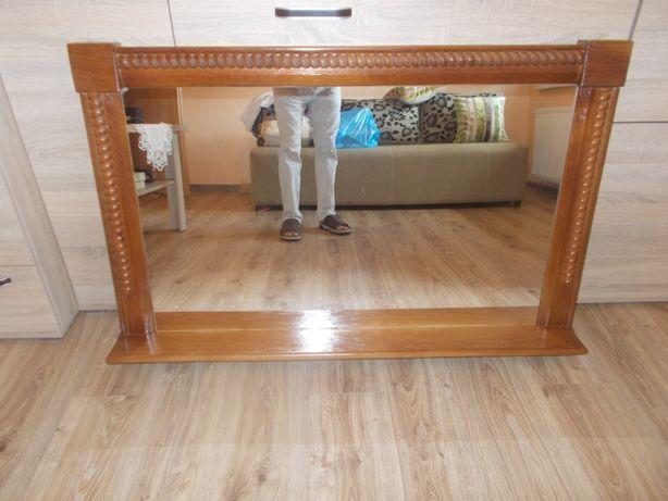 Lustro w drewnianej ramie 120,5x77,5 cm