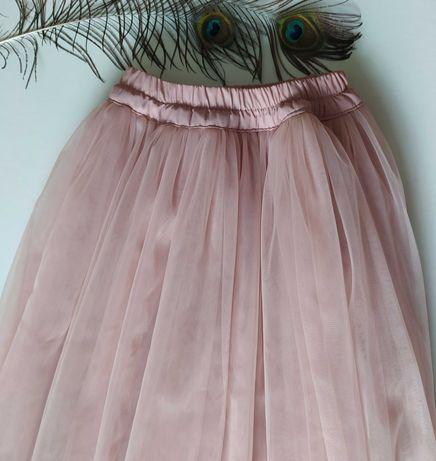 юбка из еврофатина цвет пудра нарядная праздничная пышная на подарок