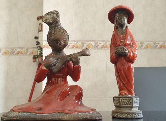 Casal de chineses em loiça - antigos