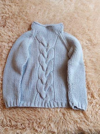 Тёплый свитер на девочку р134