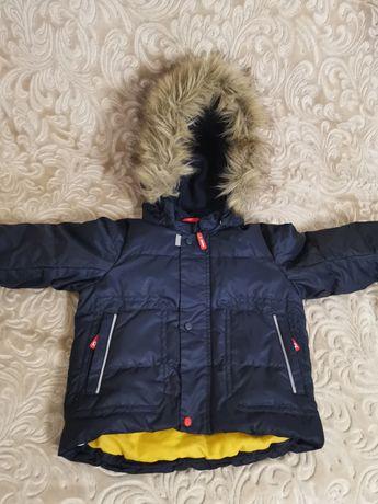 Зимний комплект зимний пуховый reima  для мальчика размер 86+6