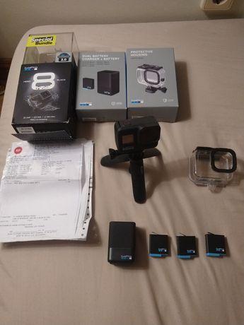 GoPro 8 black com acessórios