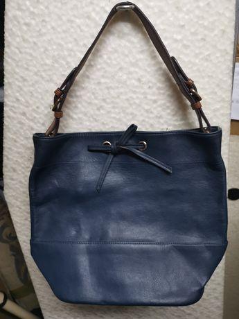 Mala saco de mão de senhora em pele azul da Parfois