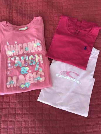 T Shirts Ralph Lauren e O'Neil cor-de rosa 8-10 anos