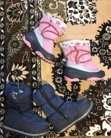 Демары, ботинки, зима, девочка
