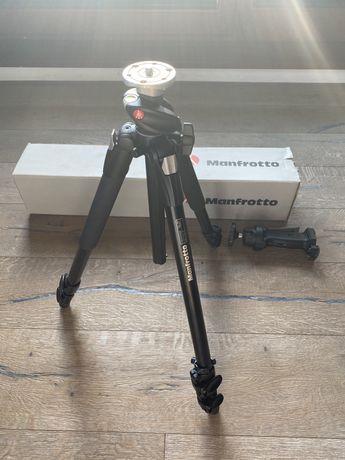 Nowy Statyw Manfrotto do aparatu wraz z głowicą komplet