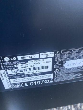 Telewizor 55 cali LG uszkodzona matryca