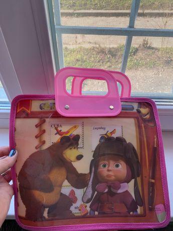 Сумка портфель рюкзак папка для тетрадок книг маша и медведь