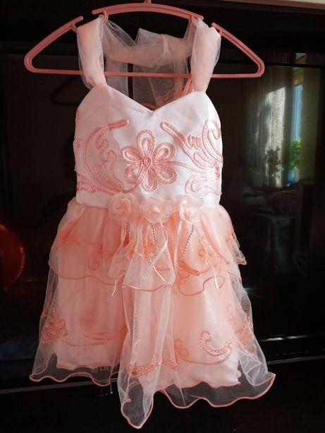 Платье нарядное рост 92-98 см, 2-3 года