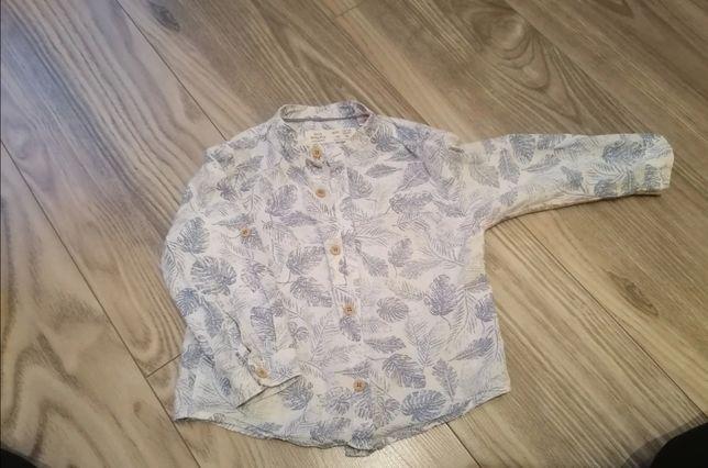 Koszula Zara, koszula w liście, wzorzysta koszula elegancka