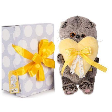 Мягкая игрушка Budi Basa Кот Басик Baby с сердечком, 20 см от Budi Bas