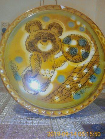 Тарелка панно олимпийский мишка 250гр.