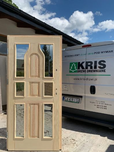 Drzwi Zewnętrzne Drewniane Ocieplane Góralskie R5  KRIS DRZWI