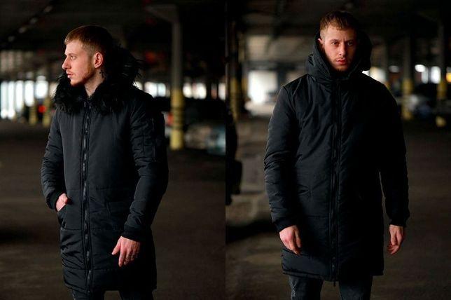 Зимняя мужская парка, куртка, теплая чоловіча