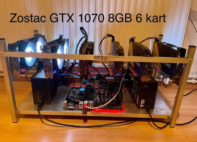 Koparka kryptowalut 6x Zotac 1070 8GB 160 Mh/s Bielsko-Biała
