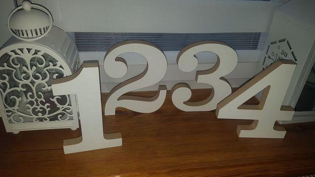 Numerki 1 2 3 4 na stoły dla gości