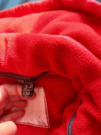 Czerwona kurtka zimowa zara 104