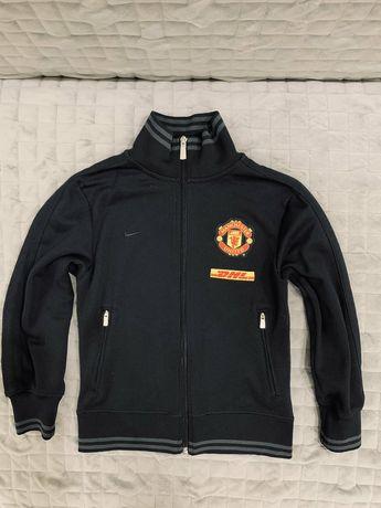 Спортивная кофта Manchester United. 8-10 лет. Размер 128-140.