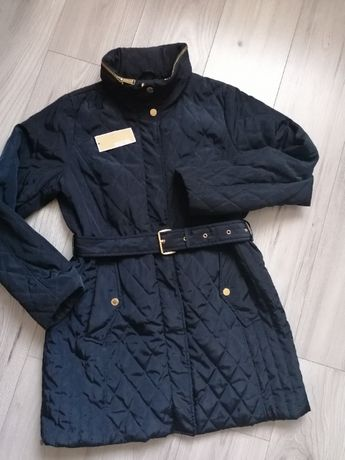 Michael Kors płaszcz pikowany Dark Navay granat